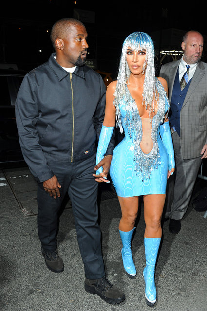 Kim Kardashian and Kanye West arrive at the Met Gala after party on May 7, 2019. (Photo by Splash News and Pictures)
