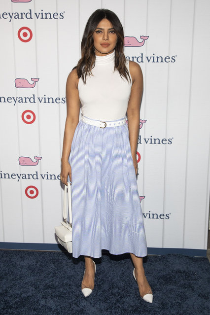 Actress Priyanka Chopra attends the Vineyard Vines for Target launch event at Brookfield Place on Thursday, May 9, 2019, in New York. (Photo by Andy Kropa/Invision/AP Photo)
