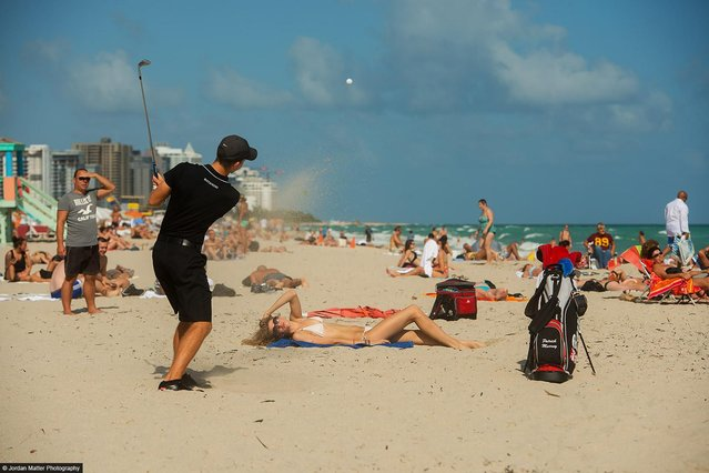 """Sand Trap"" – Patrick Murray – NCAA Golfer. (Photo by Jordan Matter)"