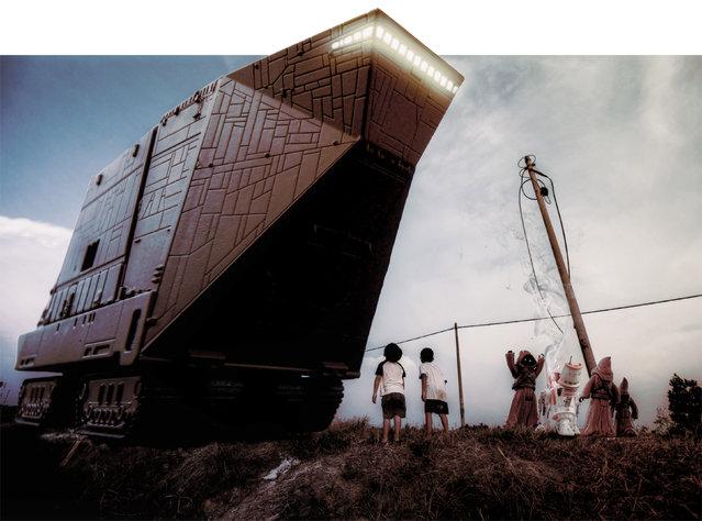 A Jawa transporter in the Malaysian rice fields. (Photo by Zahir Batin/Mercury Press)