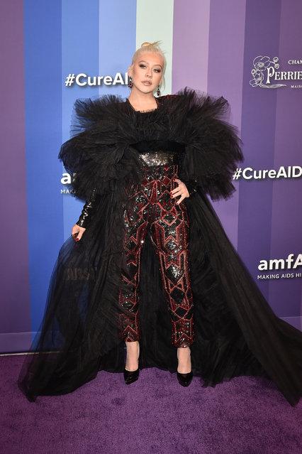 Christina Aguilera attends the 2019 amFAR Gala Los Angeles at Milk Studios on October 10, 2019 in Los Angeles, California. (Photo by David Crotty/Patrick McMullan via Getty Images)