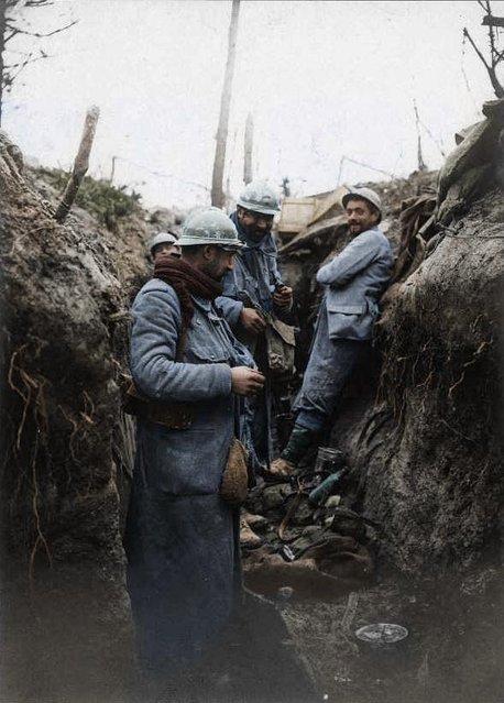 Souain, January 20, 1916. (Photo by Frédéric Duriez/BDIC/Mediadrumworld.com)