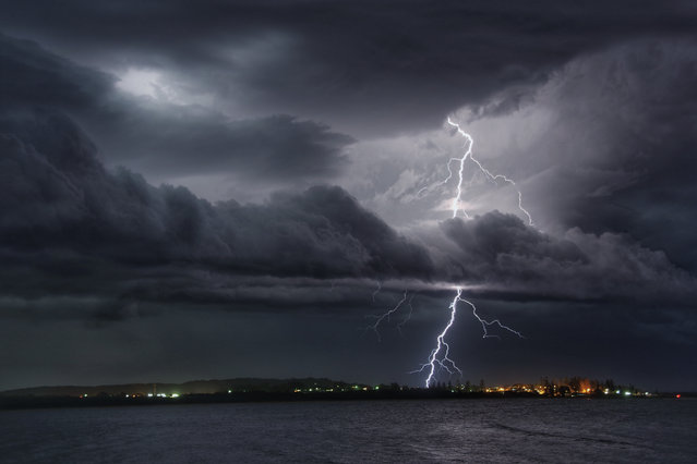 """Spectacular Lightning Show over Trial Bay"". Taken near South West Rock, Australia, Hugo Begg's image was judged the overall winner in the under-17s category. (Photo by Hugo Begg/2019 Weather Photographer of the Year/RMetS)"