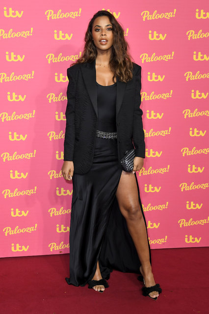 Rochelle Humes attends the ITV Palooza 2019 at The Royal Festival Hall on November 12, 2019 in London, England. (Photo by Anthony Harvey/Rex Features/Shutterstock)