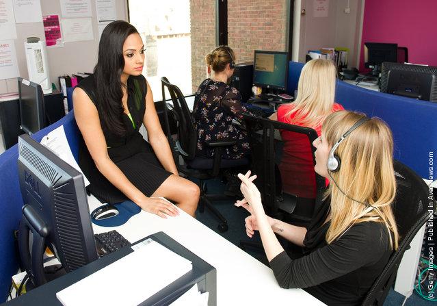 Alesha Dixon visits the National Domestic Violence Helpline