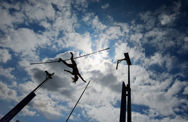 Katerina Stefandi of Greece competes in the pole vault during the Adidas Grand Prix at Icahn Stadium on Randalls Island on June 14, 2014 in New York City. (Photo by Al Bello/Getty Images)