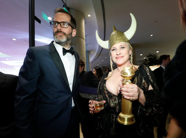 Actor Patricia Arquette, Best Performance by an Actress in a Supporting Role in a Series, Limited Series or Motion Picture Made for Television, and boyfriend Eric White attend the 2020 Walt Disney Company Post-Golden Globe Awards Show celebration at The Beverly Hilton Hotel on January 05, 2020 in Beverly Hills, California. (Photo by Mario Anzuoni/Reuters)