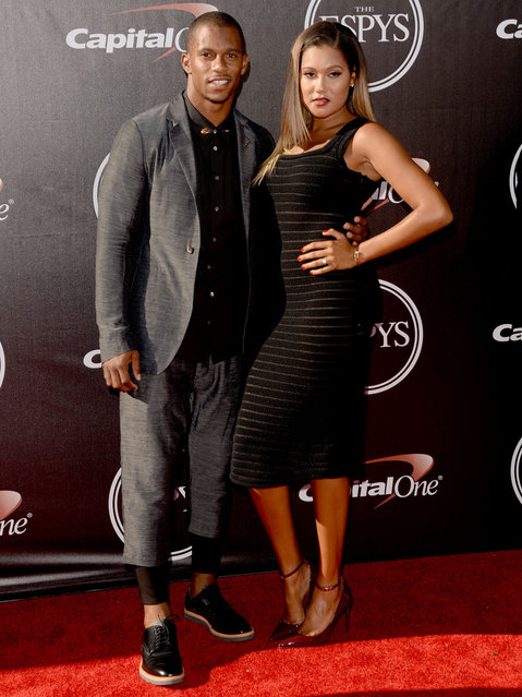 NFL player Victor Cruz attends The 2014 ESPYS at Nokia Theatre L.A. Live on July 16, 2014 in Los Angeles, California. (Photo by Jason Merritt/Getty Images)