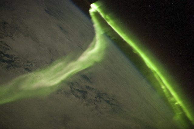 A photo of the aurora australis taken during a geomagnetic storm from the International Space Station  on May 29, 2010. (Photo by Reuters/ISS Crew Earth Observations experiment and Image Science & Analysis Laboratory, Johnson Space Center)