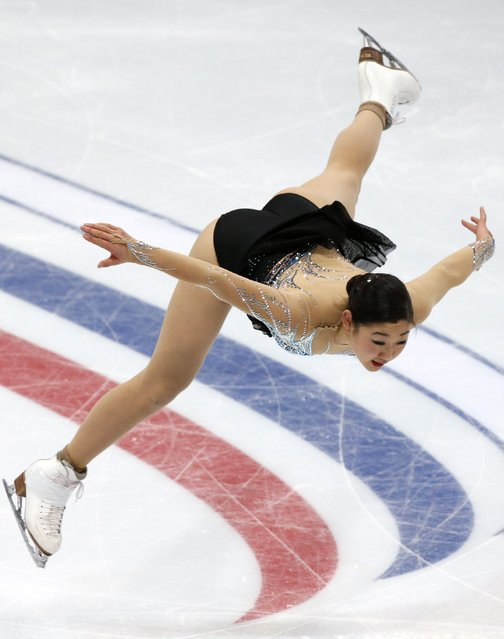Mirai Nagasu of the U.S. performs during the ladies free skating program at the Rostelecom Cup ISU Grand Prix of Figure Skating in Moscow November 15, 2014. (Photo by Grigory Dukor/Reuters)