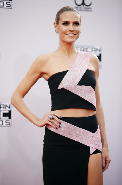 Model Heidi Klum arrives at the 42nd American Music Awards in Los Angeles. (Photo by Danny Moloshok/Reuters)