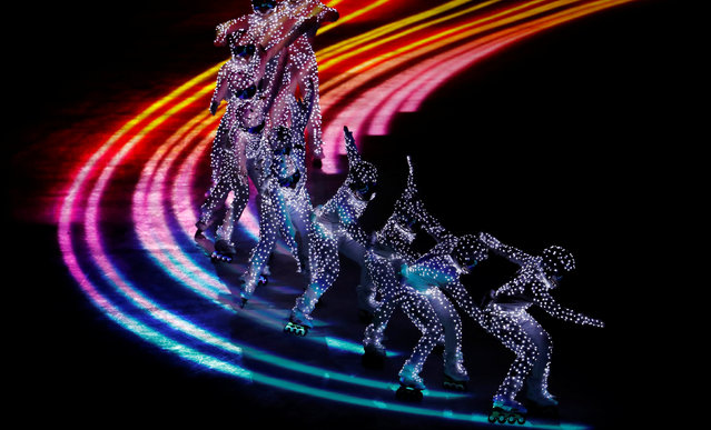 Artists perform during the closing ceremony of the PyeongChang Winter Olympic Games at the Olympic Stadium in Pyeongchang, South Korea, on February 25, 2018. (Photo by Damir Sagolj/Reuters)