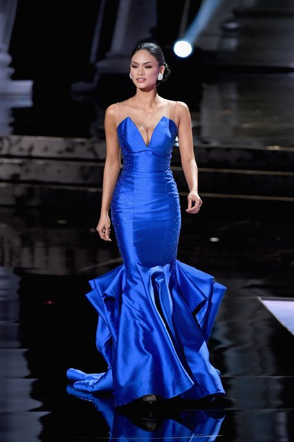 Miss Philippines 2015, Pia Alonzo Wurtzbach, competes in the evening gown competition during the 2015 Miss Universe Pageant at The Axis at Planet Hollywood Resort & Casino on December 20, 2015 in Las Vegas, Nevada. (Photo by Ethan Miller/Getty Images)