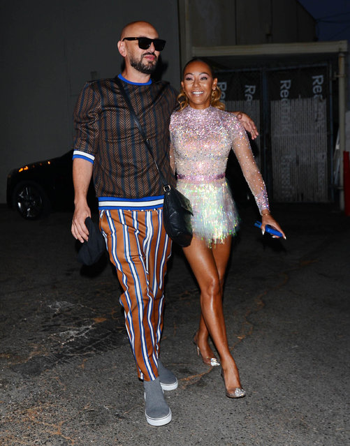 Mel B and Gary Madatyan are seen on August 22, 2018 in Los Angeles, CA. (Photo by SMXRF/Star Max/GC Images)