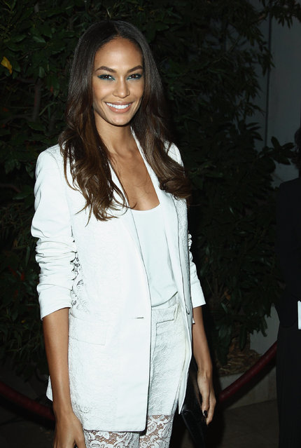 """Joan Smalls attends the """"Mademoiselle C"""" cocktail party at Pavillon Ledoyen on October 1, 2013 in Paris, France.  (Photo by Julien M. Hekimian/Getty Images)"""