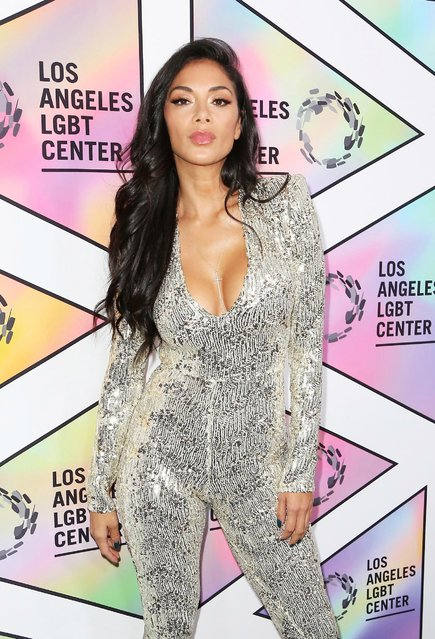 Nicole Scherzinger arrives at the Los Angeles LGBT Center's 49th Anniversary Gala Vanguard Awards at The Beverly Hilton Hotel on September 22, 2018 in Beverly Hills, California. (Photo by Maury Phillips/Getty Images for Los Angeles LGBT Center)