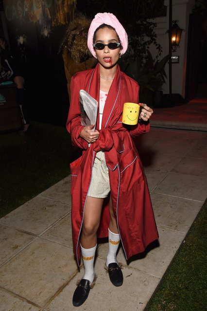 Zoe Kravitz attends the Casamigos Halloween Party on October 26, 2018 in Beverly Hills, California. (Photo by Michael Kovac/Getty Images for Casamigos)