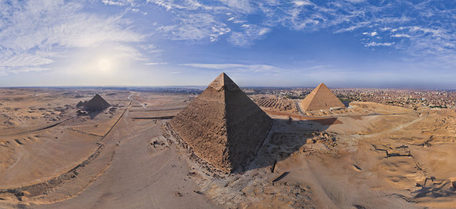The Pyramids in Egypt. (Photo by Airpano/Caters News)
