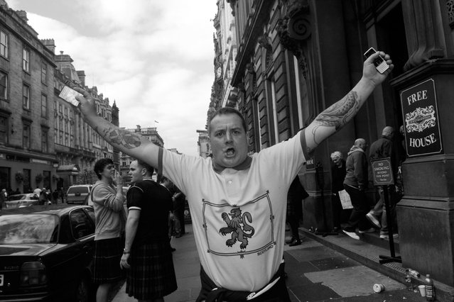 Tartan Army footsoldiers outside The Counting House. (Photo by Brian Anderson)