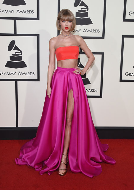 Musician Taylor Swift attends The 58th GRAMMY Awards at Staples Center on February 15, 2016 in Los Angeles, California. (Photo by Jason Merritt/Getty Images for NARAS)