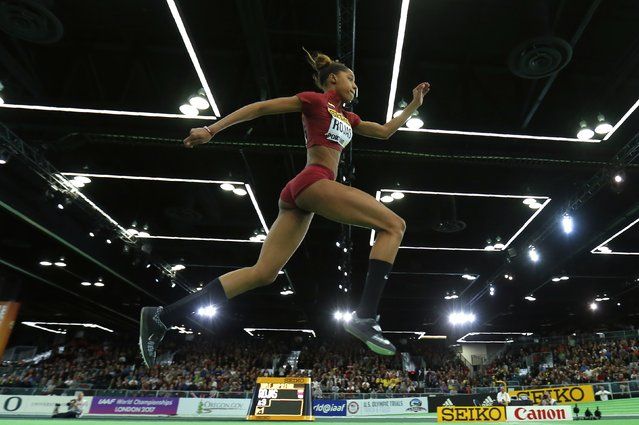 Yulimar Rojas of Venezuela competes in the women's triple jump during the IAAF World Indoor Athletics Championships in Portland, Oregon March 19, 2016. (Photo by Mike Blake/Reuters)