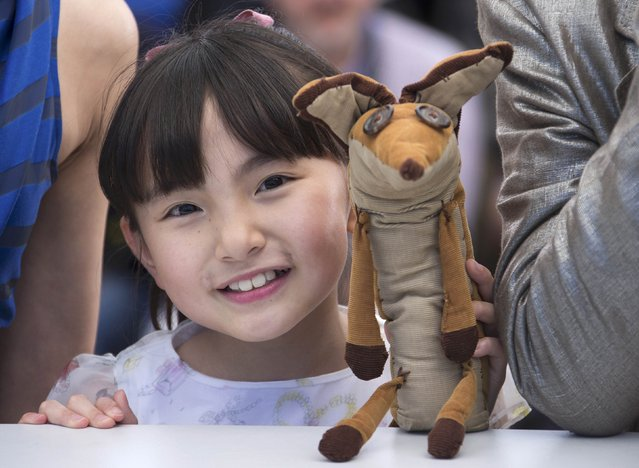 """Voice actress Rio Suzuki poses during a photocall for the animated film """"The Little Prince"""" (Le Petit Prince) out of competition at the 68th Cannes Film Festival in Cannes, southern France, May 22, 2015. (Photo by Yves Herman/Reuters)"""