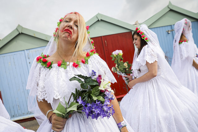 Parade goers during Brighton Pride Parade on August 03, 2019 in Brighton, England. (Photo by Tristan Fewings/Getty Images)