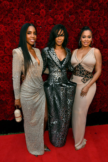 Kelly Rowland, Michelle Williams and La La Anthony attend Tyler Perry Studios grand opening gala at Tyler Perry Studios on October 05, 2019 in Atlanta, Georgia. (Photo by Paras Griffin/Getty Images for Tyler Perry Studios)