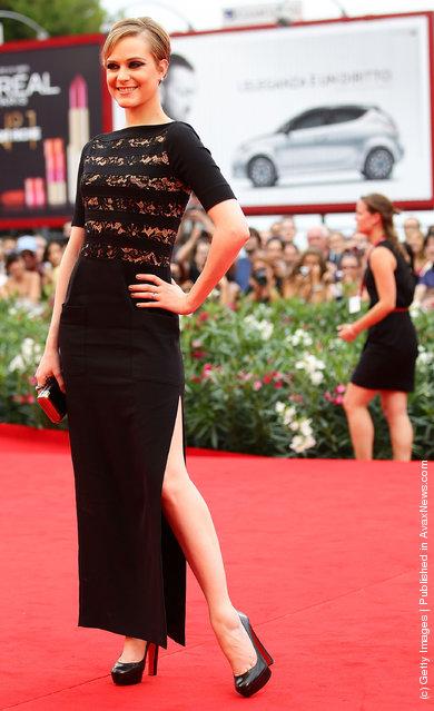 Actress Evan Rachel Wood attends 'Mildred Pierce' Premiere at Palazzo del Cinema