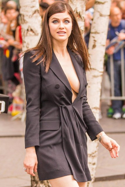"US actress Alexandra Daddario attends the ""Baywatch"" Photo Call in Berlin on May 30, 2017 in Berlin, Germany. (Photo by Splash News and Pictures)"