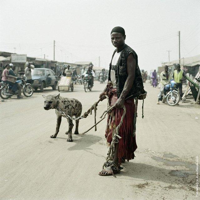 Mallam Mantari Lamal with Mainasara,Nigeria 2005