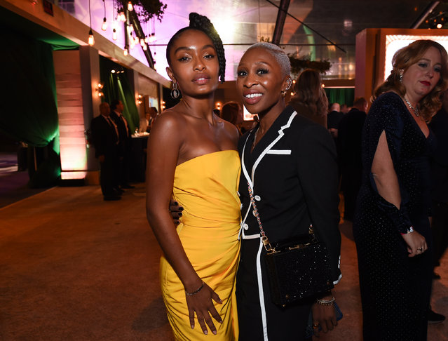 Yara Shahidi and Cynthia Erivo at the Disney event  at The Beverly Hilton Hotel on January 05, 2020 in Beverly Hills, California. (Photo by Frank Micelotta/The Walt Disney Company/PictureGroup/Rex Features/Shutterstock)