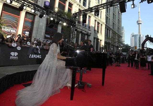 Singer Ruth B performs on the red carpet during the iHeartRadio Much Music Video Awards (MMVAs) in Toronto, Ontario, Canada June 19, 2016. (Photo by Peter Power/Reuters)