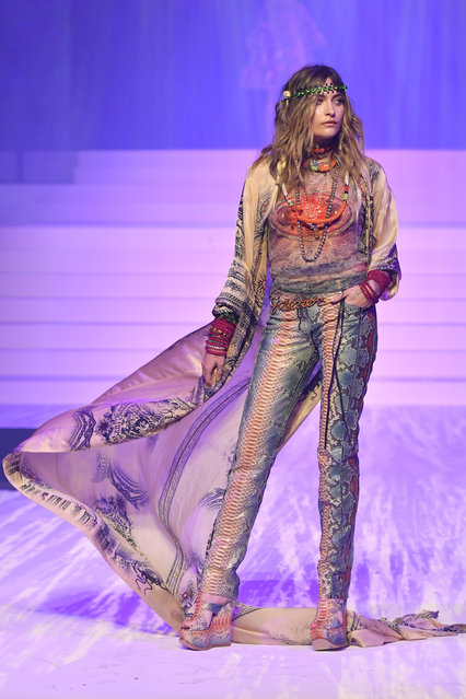 Paris Jackson walks the runway during the Jean-Paul Gaultier Haute Couture Spring/Summer 2020 fashion show as part of Paris Fashion Week at Theatre Du Chatelet on January 22, 2020 in Paris, France. (Photo by Victor Virgile/Gamma-Rapho via Getty Images)