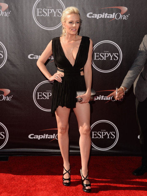 Surfer Hannah Cornett attends The 2014 ESPYS at Nokia Theatre L.A. Live on July 16, 2014 in Los Angeles, California. (Photo by Jason Merritt/Getty Images)