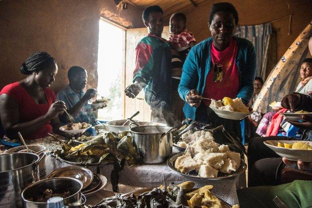 Food for life – A Ugandan Feast by Jason Wain. Sponsored by Winterbotham Darby. (Photo by Jason Wain/Pink Lady Food Photographer Award 2020)