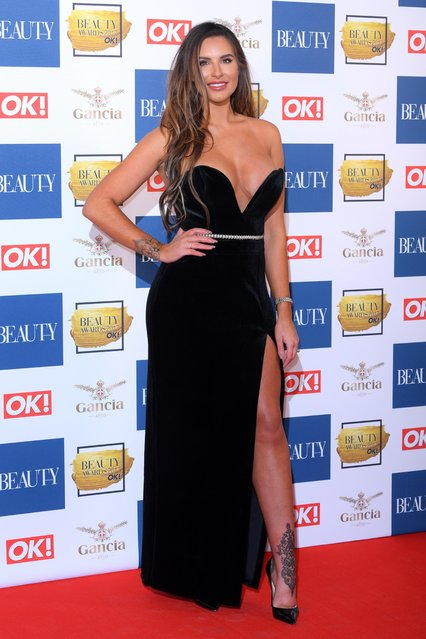 Jess Shears attends The Beauty Awards at Tower of London on November 28, 2017 in London, England. (Photo by Grant Buchanan/Silverhub/Rex Features/Shutterstock)
