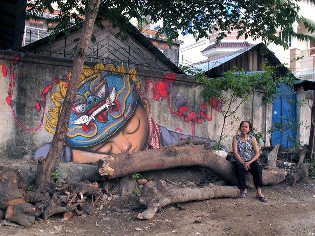 Cambodia, Phnom Penh, street 209. (Photo by Julien Malland)