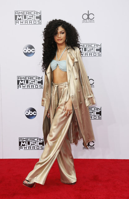 Singer Zendaya arrives at the 42nd American Music Awards in Los Angeles. (Photo by Danny Moloshok/Reuters)