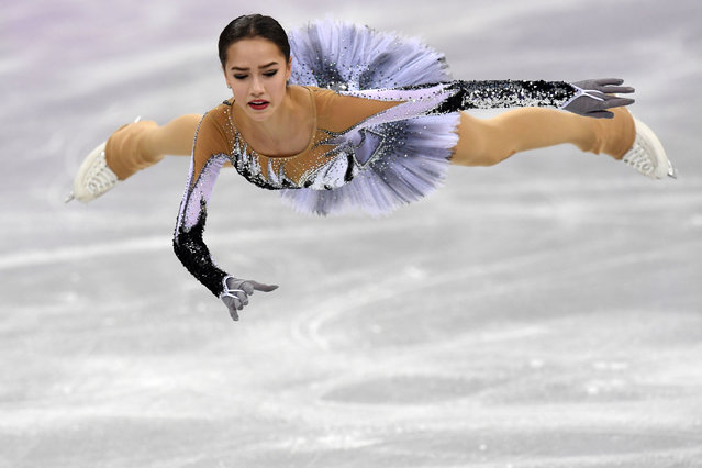 Russia' s Alina Zagitova competes in the women' s single skating short program of the figure skating event during the Pyeongchang 2018 Winter Olympic Games at the Gangneung Ice Arena in Gangneung on February 21, 2018. (Photo by Kirill Kudryavtsev/AFP Photo)