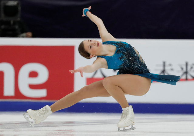 Viktoriia Safonova of Belarus performs in the Ladies Short Program during day one of the ISU Grand Prix of Figure Skating Rostelecom Cup at Megasport Arena on November 20, 2020 in Moscow, Russia. (Photo by Evgenia Novozhenina/Reuters)