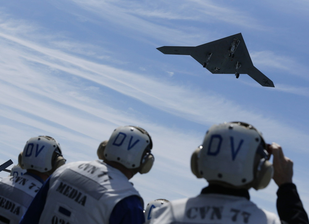 X-47B Makes Historic Carrier Launch