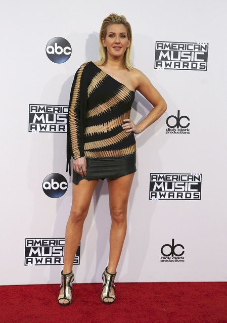 Recording artist Ellie Goulding arrives at the 2015 American Music Awards in Los Angeles, California November 22, 2015. (Photo by David McNew/Reuters)