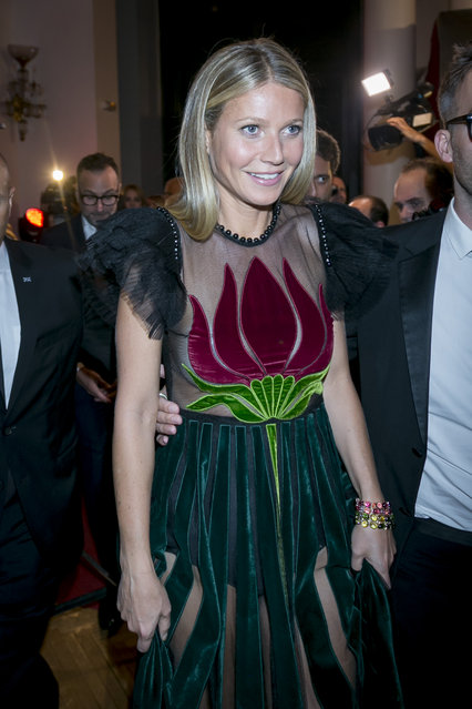 Gwyneth Paltrow attend the Elle magazine Spain 30th anniversary party in Madrid, Spain on October 27, 2016. (Photo by Splash News and Pictures)