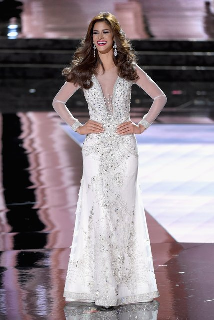 Miss Venezuela 2015, Mariana Jimenez, competes in the evening gown competition during the 2015 Miss Universe Pageant at The Axis at Planet Hollywood Resort & Casino on December 20, 2015 in Las Vegas, Nevada. (Photo by Ethan Miller/Getty Images)