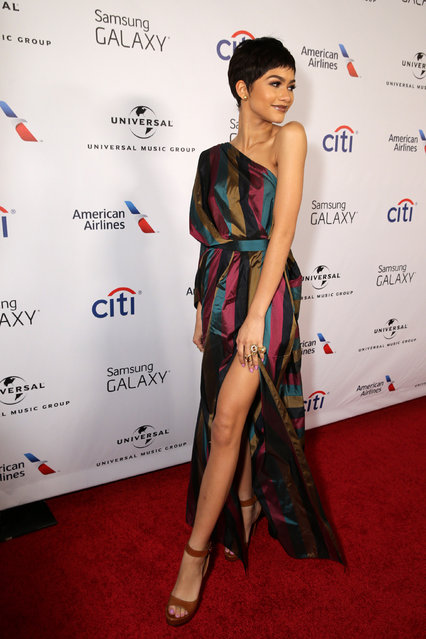 Zendaya seen at the Universal Music Group 2015 Grammy After Party presented by America Airlines and Citi held at The Ace Hotel on Sunday, February 8, 2015, in Los Angeles. (Photo by Eric Charbonneau/Invision for Universal Music Group/AP Images)