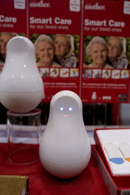 The Smart Care Silver Mother is displayed at CES Unveiled, a media preview event for CES International  Monday, January 4, 2016, in Las Vegas. The Silver Mother is a comprehensive life monitoring solution for seniors. (Photo by Gregory Bull/AP Photo)