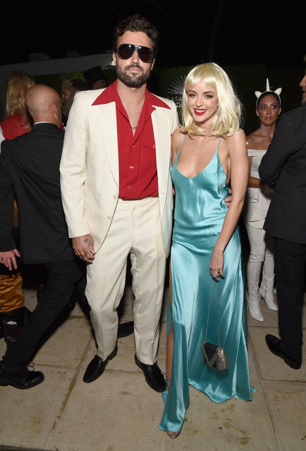 Brody Jenner (L) and Kaitlynn Carter attend the Casamigos Halloween Party on October 26, 2018 in Beverly Hills, California. (Photo by Michael Kovac/Getty Images for Casamigos)