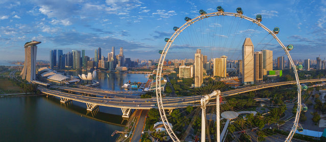 The Singapore Flyer. (Photo by Airpano/Caters News)