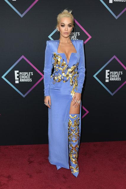 Rita Ora attends the People's Choice Awards 2018 at Barker Hangar on November 11, 2018 in Santa Monica, California. (Photo by Jon Kopaloff/FilmMagic)